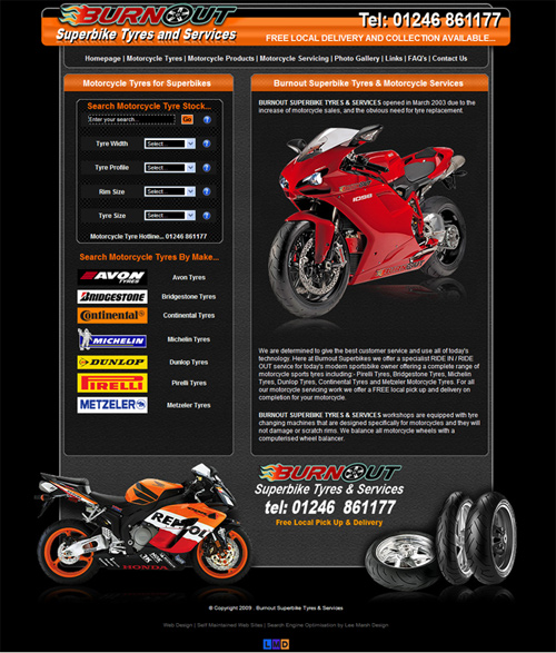 Burnout Superbike Tyres and Services - Best Deals on Motorcycle Tyres and FREE Pick Up and Delivery On Local Services