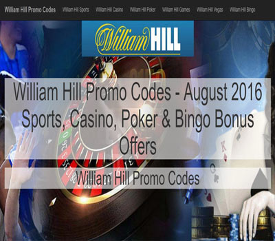 promotional code william hill